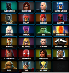 Just look at all the awesome Heroes you'll almost never get to play.