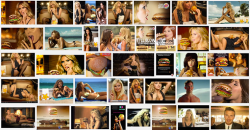 Google Search for Sexy Burger Ad