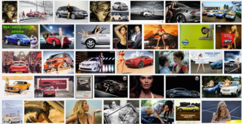 Google Search for Sexy Car Ad