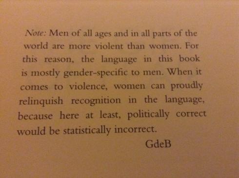 Take That Political Correctness The Gift Of Fear Gavin De